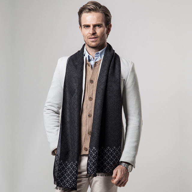 [Peacesky]2019 New Brand Winter Men's Plaid Cashmere Scarf Men Scarves Free Shipping YH101