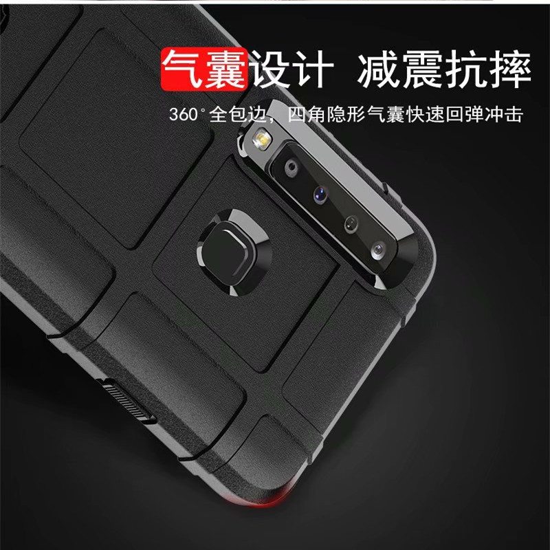 Rugged Shield Soft Rubber Defense armor Phone case for Samsung Galaxy A7 2018 ultra thick Shockproof cover for Samsung A9 2018 in Fitted Cases from Cellphones Telecommunications