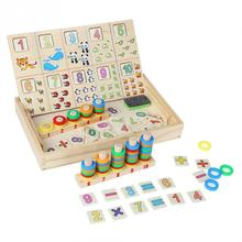 Children Wooden Sorting Box Math Toys Sets Montessori Counting & Caculating Learning Kids Pre-School Educational