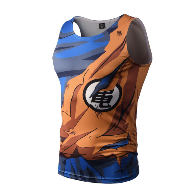 Dragon Ball Z Tight Tank Tops Men Sleeveless Vest Summer Style Jersey 3D Print Shirt