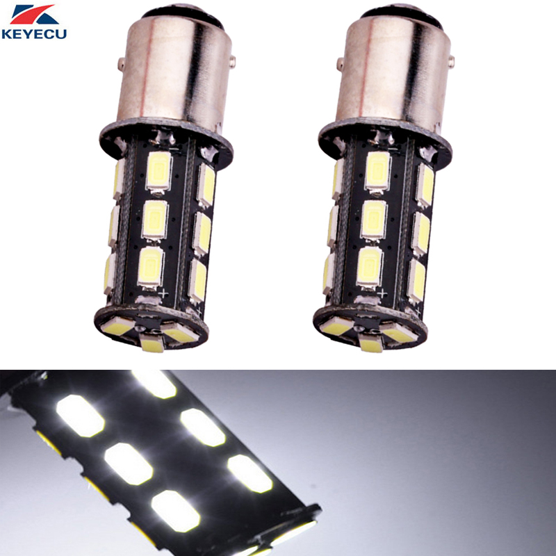 KEYECU 2PCS White 6000K 10W High Power 1156 11575630 18SMD Super Bright Automotive Led Bulb Back Up Reverse Brake Tail Lights