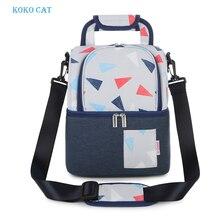 KOKOCAT Lunch Bags Food Cooler Picnic for Women Thermal Box Kids Milk Bag