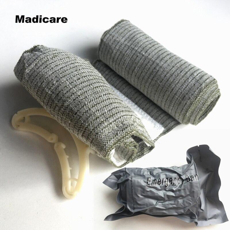 2 Pieces Israeli Bandage Battle Dressing Medical Dressing Trauma Bandage, 4 Inches anogol 28 inches