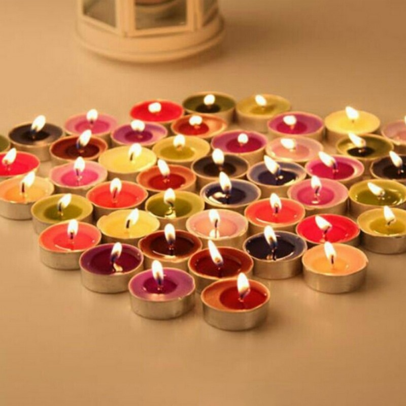 50pcs Flameless Yellow Flicker Tear Wax Drop Candle Mini Battery Operated Tea Lights New Arrive Realistic Led Tea Light Candle