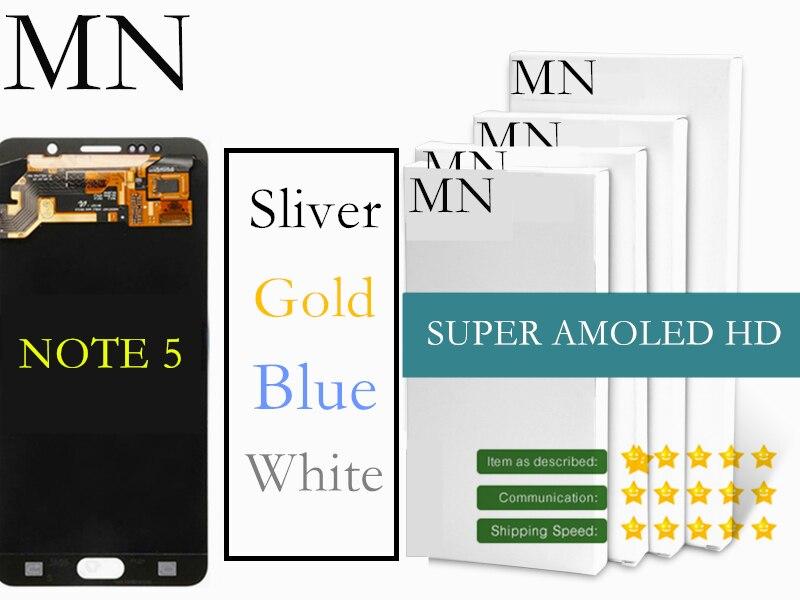 imágenes para DHL/5 UNIDS MN Pantalla LCD + Pantalla Táctil Digitalizador Asamblea Para Samsung Galaxy Note 5 N9200 N920T N920A N920I N920G