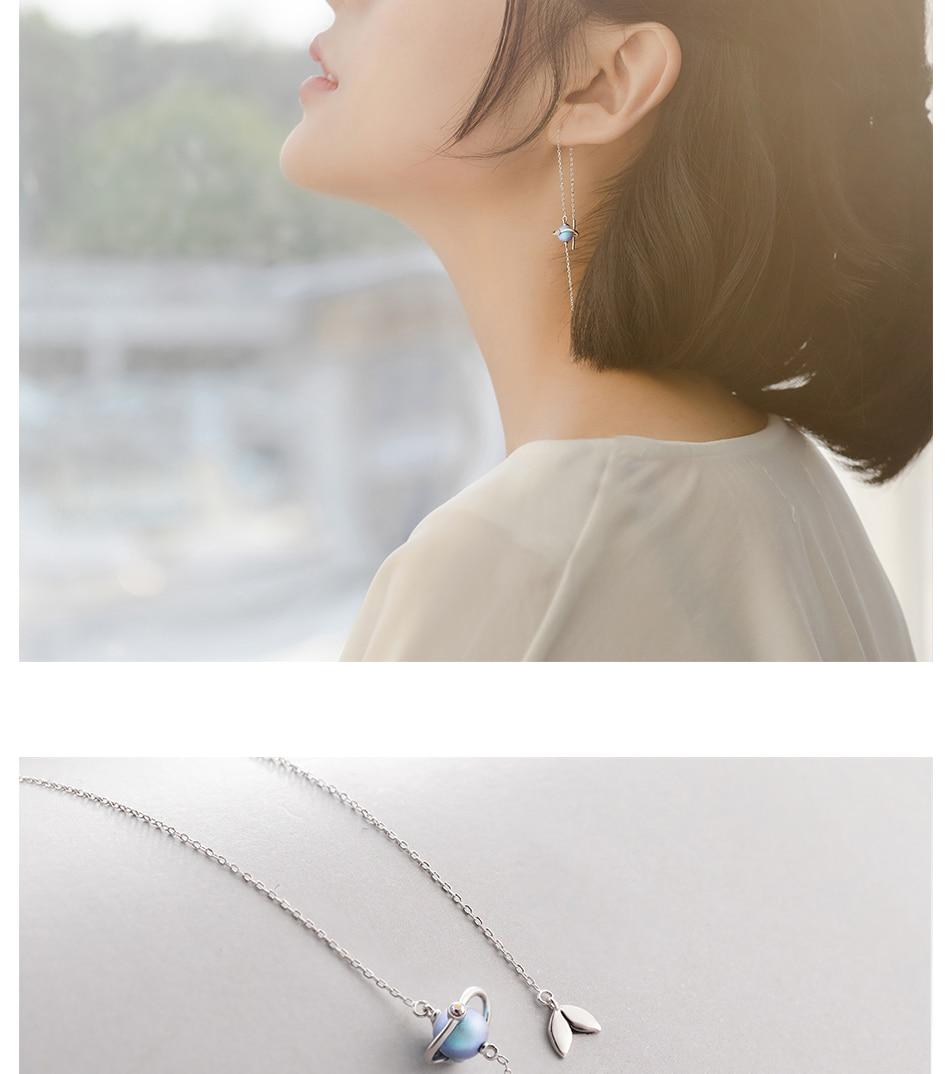 HTB1L7Tja2WG3KVjSZFgq6zTspXaW Thaya 925 Silver Earrings Midsummer Night's Dream Design Pendant Earrings Vintage Fantasy style Party Jewelry For Women Gift