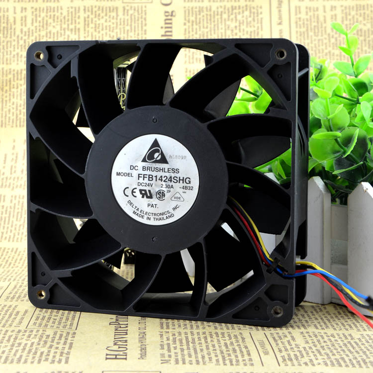 Free Delivery. 14 cm 24 v 2.30 A FFB1424SHG high quality 4 wire PWM control cooling fan violence