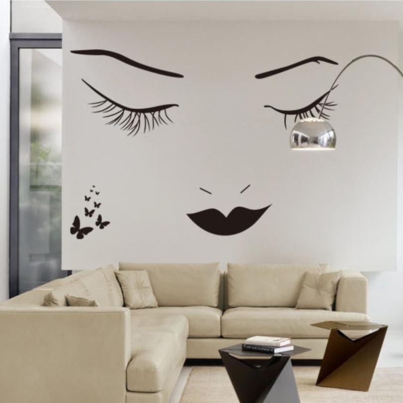 Permalink to Home Decor Eyelashes Wall Stickers DIY Wall Quote Sticker Decal Home Decor Vinyl Art Mural wall sticker Home Deco mirror AU7