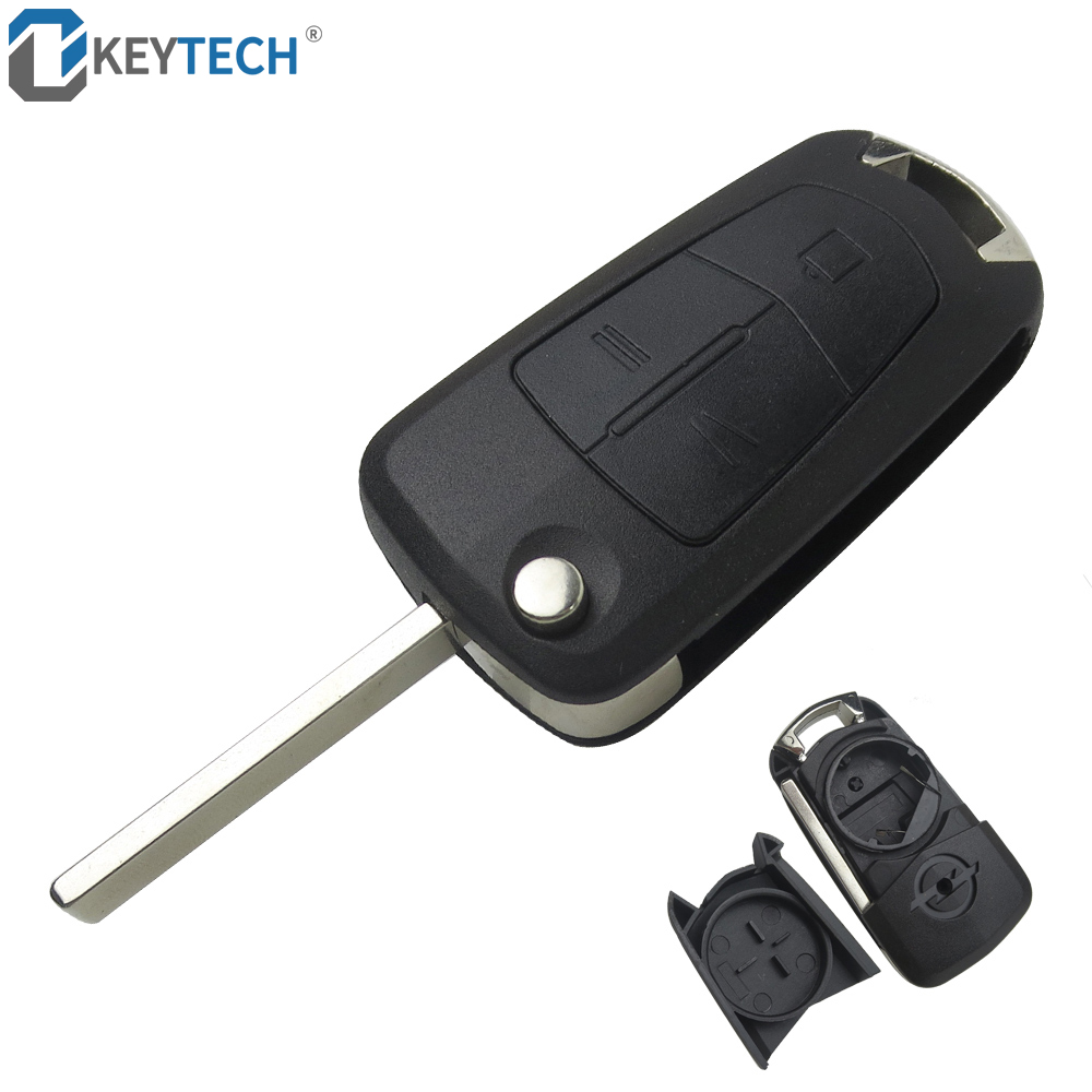 Car 2Button Flip Remote Key Fob Case Shell for Vauxhall Opel Vectra Astra Meriva