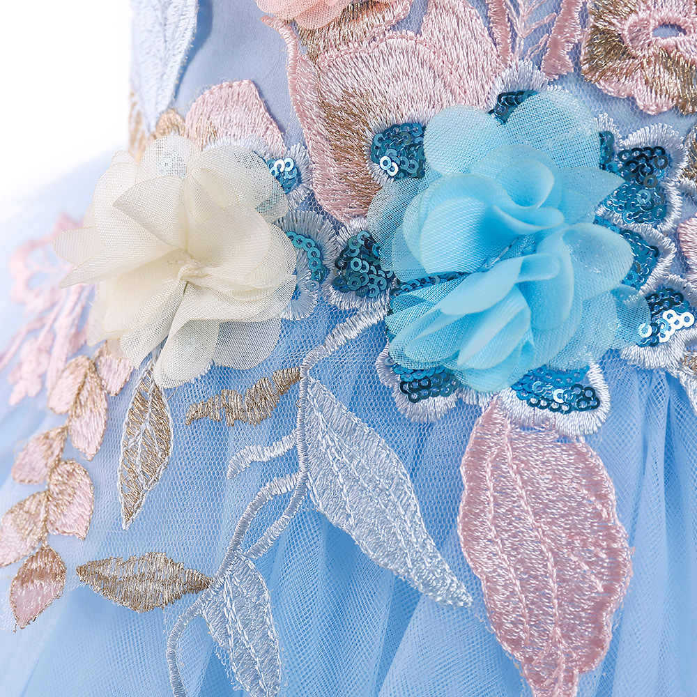 307a7659dc175 New Year Eve Dress For Girls Wedding 2018 Kids Teen Party Evening Prom  Princess Grown Flower 3 4 5 6 7 8 Christmas High Quality