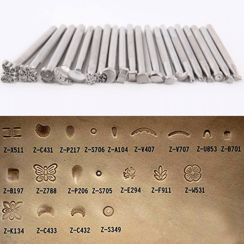 Metal Leather Craft Tools Leather Working Saddle Making Carved Tools Craftool Leather 20pcs//Set