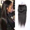 7A Brazilian Straight Hair 4X4 Swiss Lace Closure Brazilian Virgin Hair Straight Human Hair Free 3 Part Closure Fast Shipping