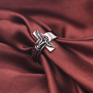 Image 5 - Anillo con crucifijo Punk para hombre, cruz de Jesús, oración con estilo, joyería retro para hombre, anillos góticos de fiesta Rock, talla 8 13