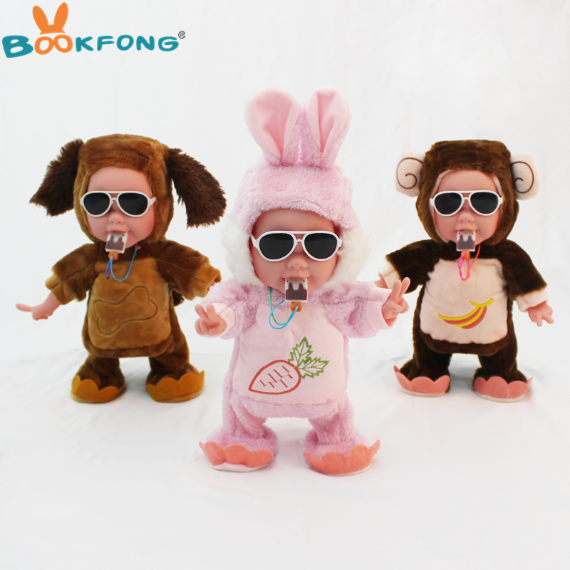 Symbol Of The Brand Funny Electronic With Legs And Hands Moving Plush Pet Robot Monkey Toy Educational For Children Birthday Gifts A Wide Selection Of Colours And Designs Toys & Hobbies Stuffed Animals & Plush