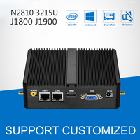 Mini PC Windows 10 Dual LAN J1900 Quad Core 4G RAM 2 COM Nottop 3205U J1800 N2810 Bez Wentylatora Mini Komputer z 300 M WIFI HDMI VGA
