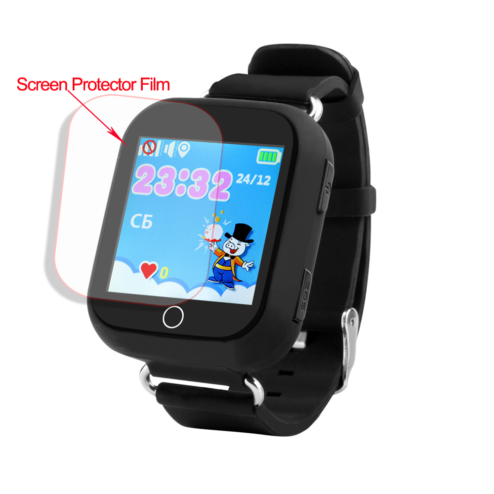 HD Glass Screen Film Protector for Q90 Q100 Q750 Q750S Baby Kids Child Smart Watch Smartwatch Glass Screen Film Protector in Smart Accessories from Consumer Electronics