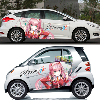 DARLING in the FRANXX Waterproof Japan Anime Vinyl Car Sticker Cartoon Door Decals Ralliart Stickers Vehicle Accessories CNS540