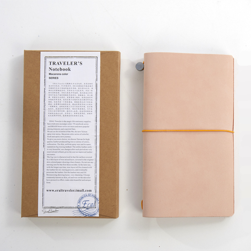 (ET) записная книжка для путешественников среднего размера. Со вкусом в ретро стиле из вощеной коровьей кожи Личный планнер bullet journal satochbook.