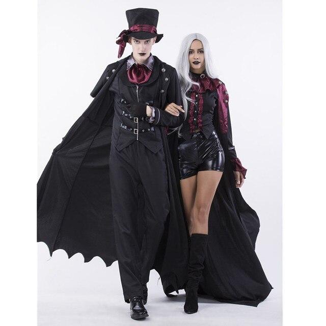 Deluxe 6 pz set di Halloween Gothic Sexy Strega Vampiro Costume Uomo di  Cosplay Delle 344554c6d57f