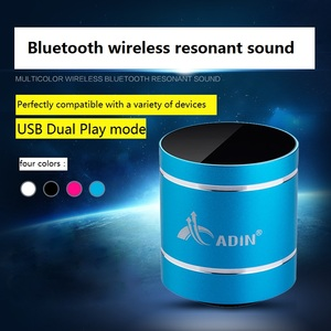 Image 4 - Altavoz bluetooth portatil alto falante sem fio alto falante sem fio do subwoofer do bluetooth do orador da vibração de adin mini para o computador