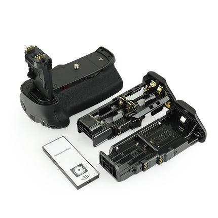 Poignée de batterie BG E16 + télécommande IR + support de batterie LP E6 + support de batterie AA pour Canon 7D mark II 7D2.-in Extensions de batterie from Electronique    1