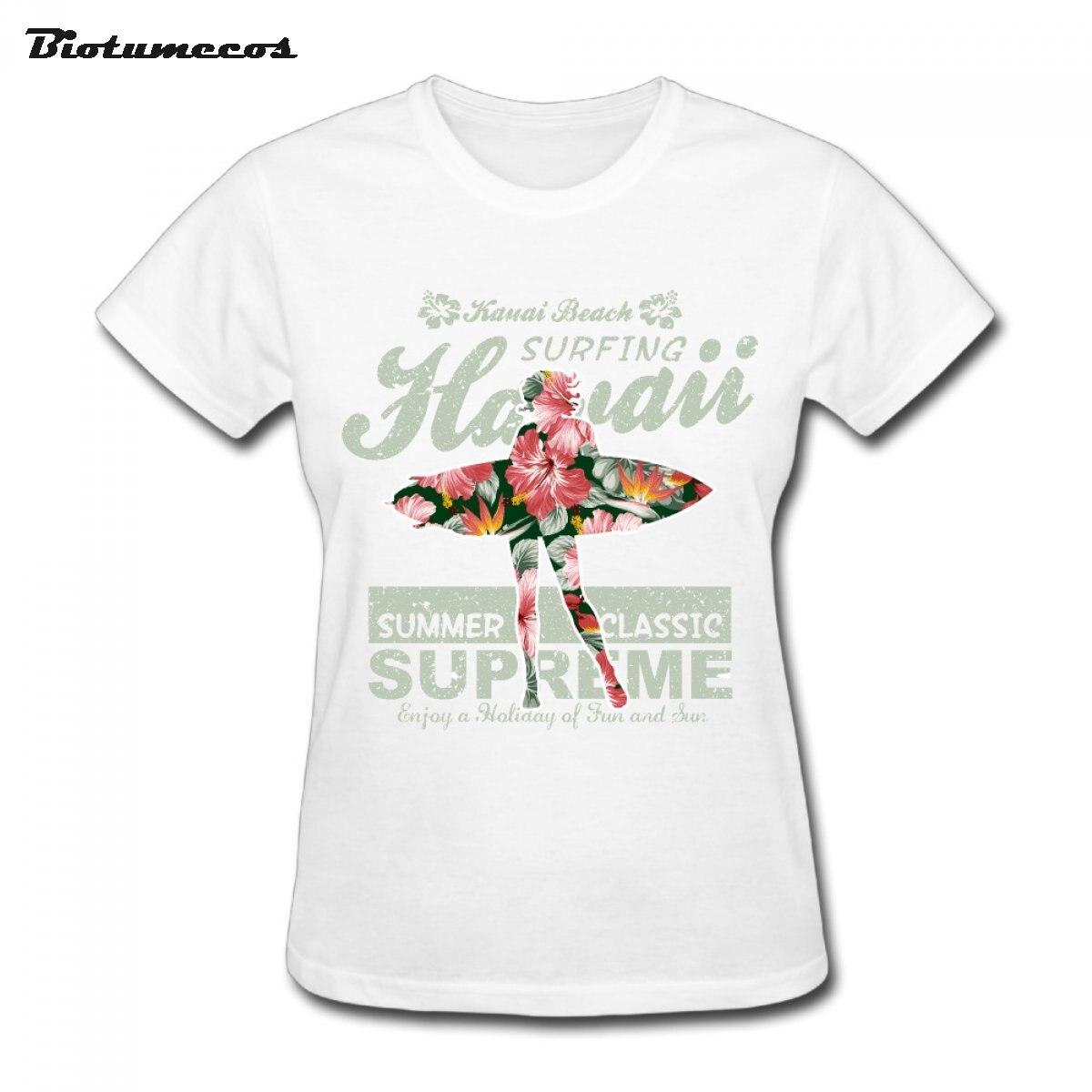 Heißer Verkauf Frauen Kurzarm 100% Baumwolle Hawaii Sommer
