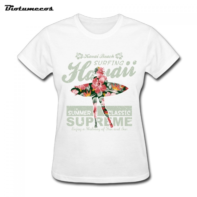 54b3a8832371 Hot Sale Women Short Sleeve 100% Cotton Hawaii Summer Classic Supreme Girl  Printed T-shirt Brand Clothes Tee Top For Lady WTY148