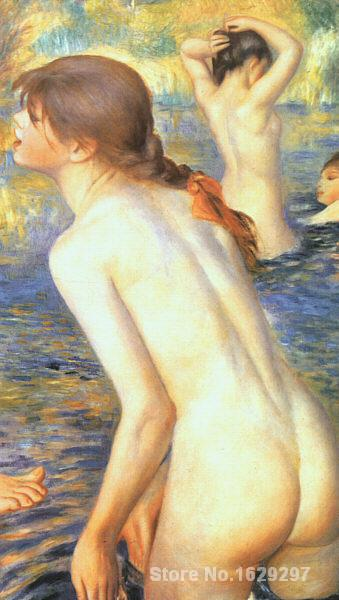 painting with oils The Bathers by Pierre Auguste Renoir art reproduction Hand-painted High qualitypainting with oils The Bathers by Pierre Auguste Renoir art reproduction Hand-painted High quality