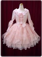 Elegant Woman Ladies Cosplay Lolita Pink Lace Dress Lolita