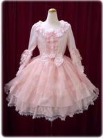 Elegant Woman Ladies Cosplay Lolita Pink Lace Dress Lolita