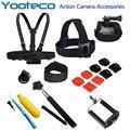 GoPro Accessories Set Chest Belt Wrist Head Helmet Strap Handheld Selfie Monopod Tripod Mount for Gopro SJ4000 Xiaomi yi Eken h9