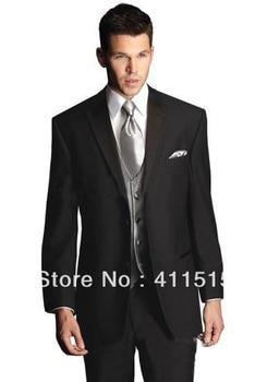 Ropa De Noche Para Hombre | Personalizado Barato Vestido De Fiesta De Noche/Real Foto Negro Hombres Esmoquin Padrino Chaleco/personalizado Boda Novio Trajes/ Envío Gratis