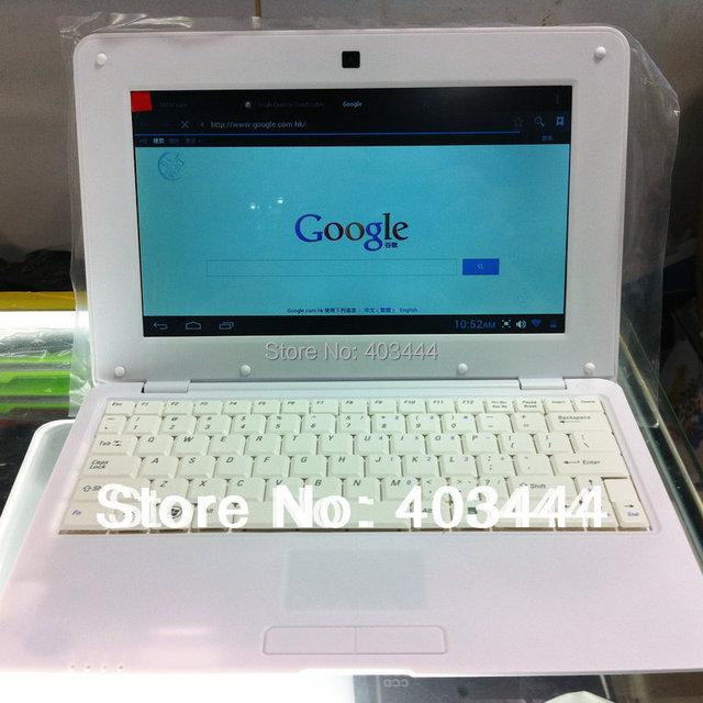 10 inch mini Laptop VIA 8850 1.5GHz 1GB RAM 4GB ROM Android 4.1 Notebook PC WIFI 0.3MP Camera Netbook Free Shipping