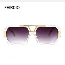 Estilo MetalFrame Feirdio Venta Caliente Gafas de Sol Lentes de La Vendimia Gafas Gafas De Sol De Protección Uv Pesca Polarizador de Conducción