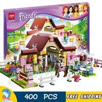 400pcs Bela 10163 Building Blocks Friends Series HeartLake Stables Mias Farm Horse Minifigures Girls Toys Compatible