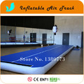 Envío gratis 8 x 2 m inflable colchonetas de gimnasia, riel de aire inflable para gimnasio, inflable Ttumble pista en venta