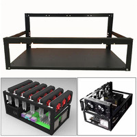 New 2018 Crypto Coin Open Air Mining Miner Frame Rig Case up to 6 GPU ETH BTC Ethereum 180313 drop shipping