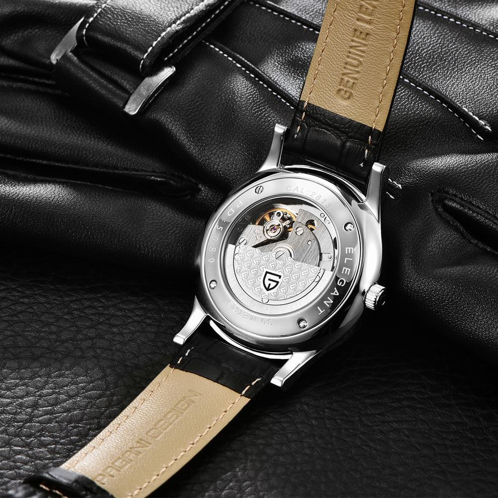 HTB1L7VyKuuSBuNjSsplq6ze8pXaB 2019 new Ultra-thin simple classic men mechanical watches business waterproof watch luxury brand genuine leather automatic watch