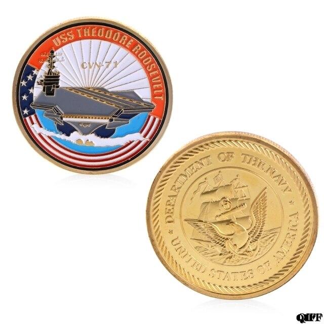 Памятная коллекция монет Художественное покрытие золотой темно CVN71