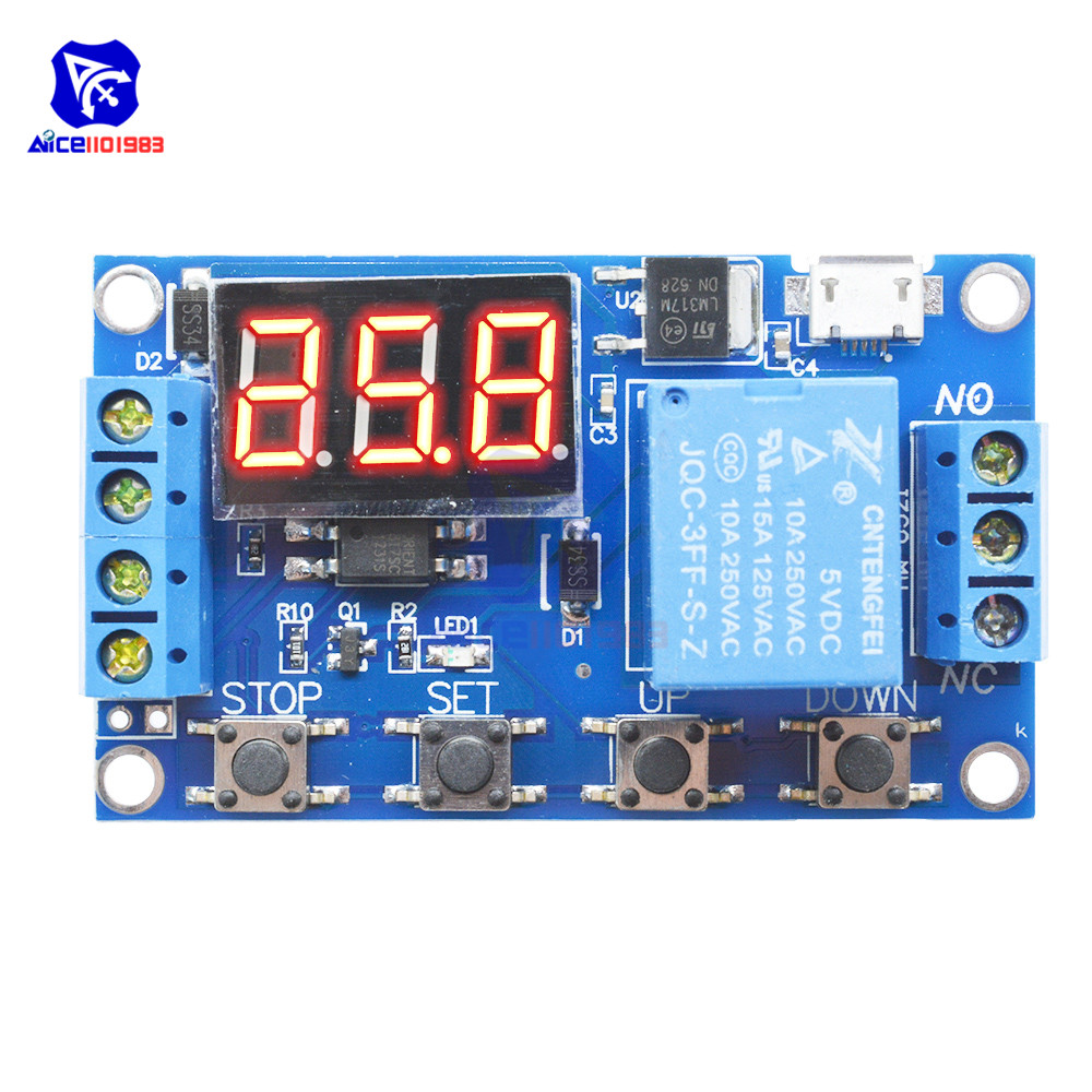 Ws16 Switch Delay Time Relay Module Micro Usb 5v Led
