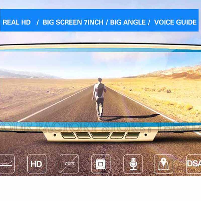 Dual Lens 7.0 IPS Touch Android 4.4 ROM 16GB FHD1080P dash camera parking car dvrs Rearview mirror video recorder Night Vision gps for land rover aurora jaguar special car dvr wifi fm hd 1080p dash camera parking car dvrs rearview mirror video recorder