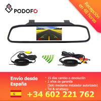 Podofo VEUR 4.3 TFT LCD Rearview Mirror Monitor + Waterproof Night Vision Reverse Car Rearview Blackup Camera+ Wireless