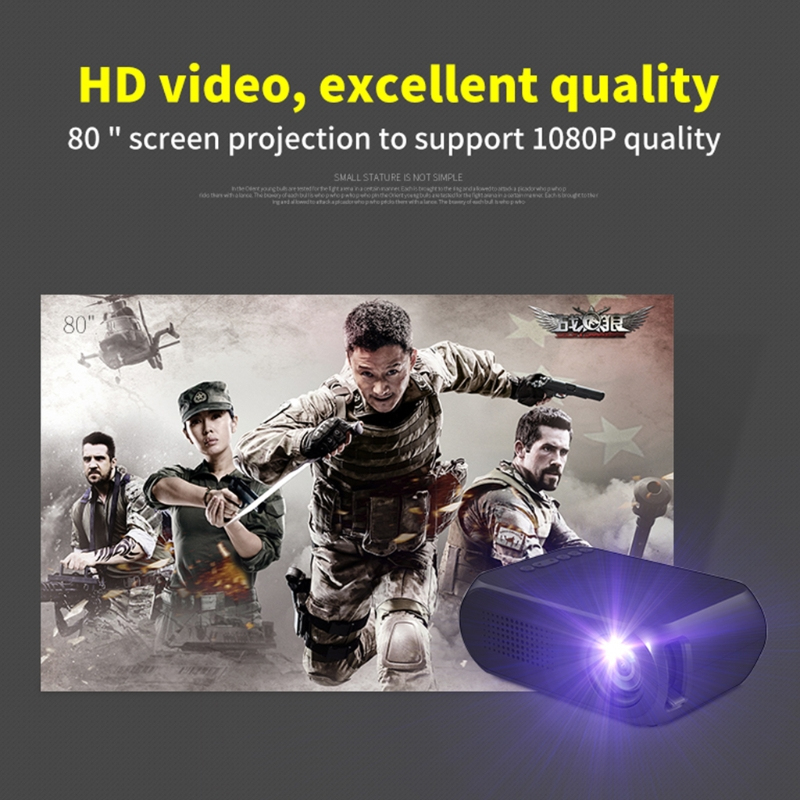 Portable Mini Projector LED Movie Projector Home Theater Cinema Media Intelligent Display for Video Conference System EU Plug new portable mini for home cinema theater 720p hd multimedia led lcd projectors hdmi av tv vga sd uk eu au plug