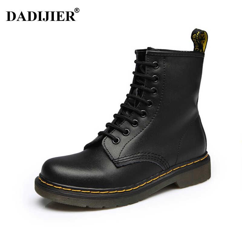 0d7caa840 2018 Для женщин сапоги Dr ботинки «мартенс» высокое качество спилок обувь  высокие мотоциклетные осень