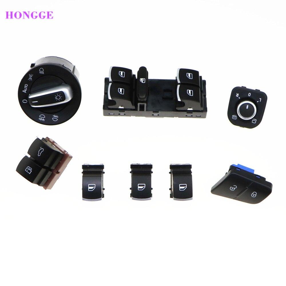 Hongge qty8 chrome фар зеркало мастер переключатель окна Топливные баки для мотоциклов дверной переключатель для VW Passat B6 35d959903 5nd941431b 5nd959857