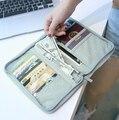 Homem marca de moda conjunto De Viagem nylon saco organizador passaporte ID titular do cartão de crédito das mulheres longo carteira de viagem