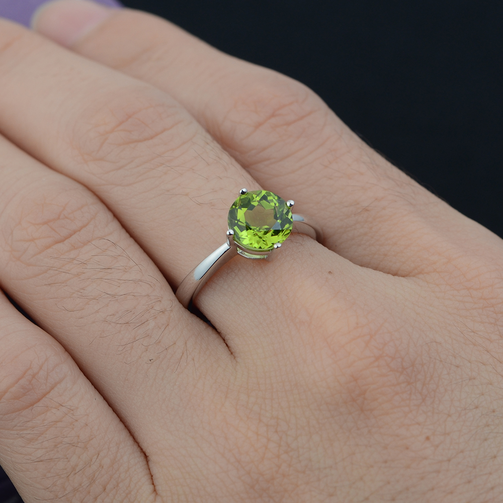 rings peridot product image halo engagement ring yellow gold and diamond