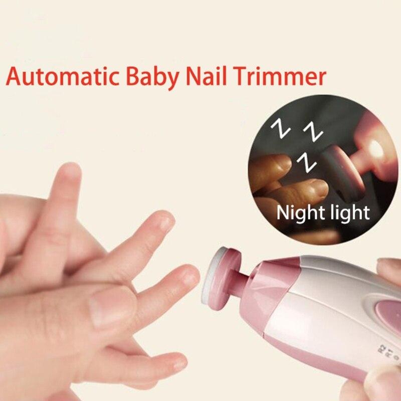 Heißer verkauf Elektrische Baby Nagel Trimmer Maniküre Pediküre Clipper Cutter Schere Farbe Gelegentliche anlieferung