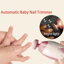 Hot selling Electric Baby Nail Trimmer Manicure Pedicure Clipper Cutter Scissors Color Random delivery