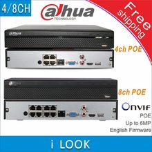 Free shipping Dahua Network Video Recorder NVR2104HS-P replace NVR2104HS-P-S2 NVR2108HS-8P replace NVR2108HS-8P-S2 4/8CH POE NVR(China)